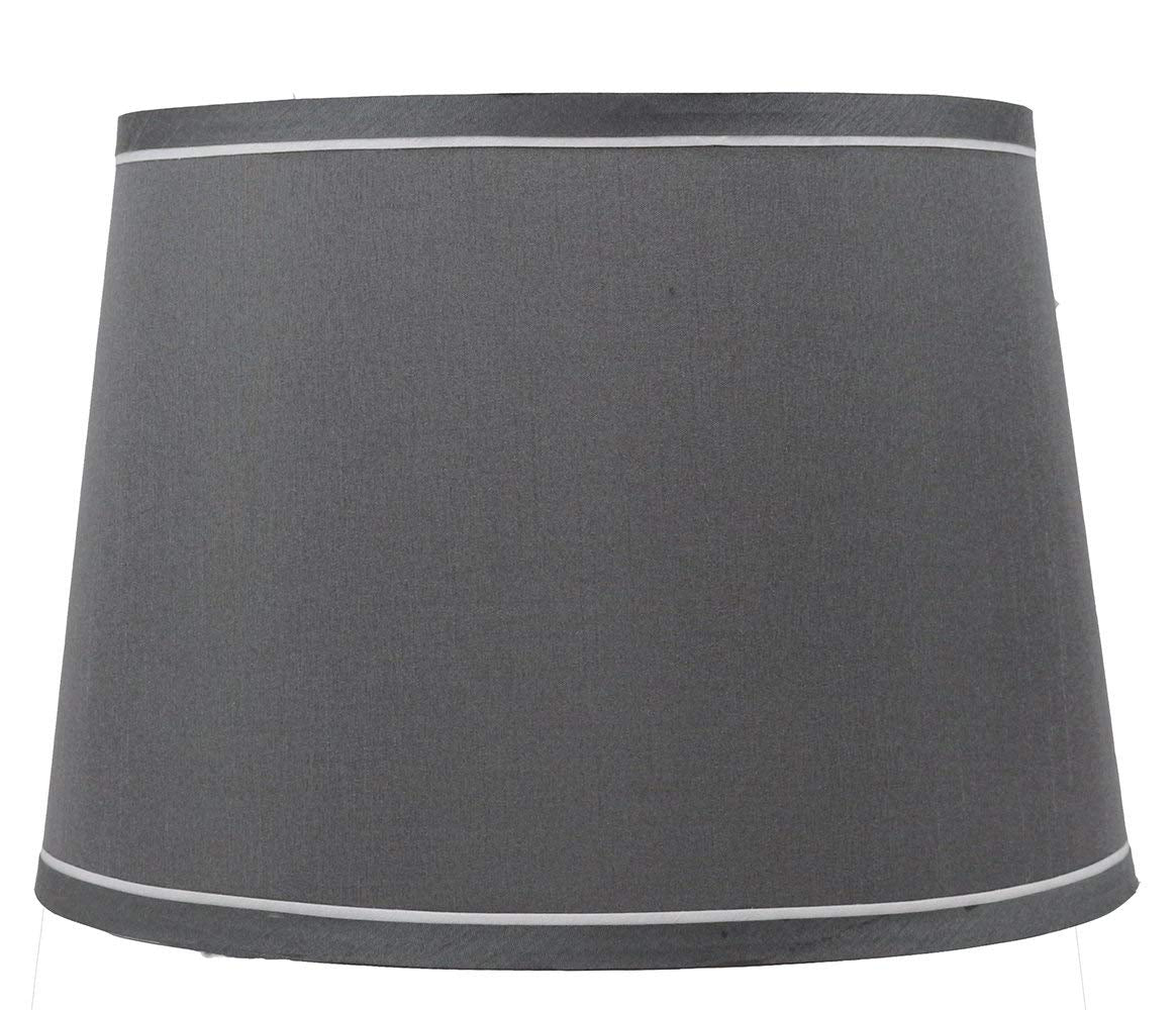 Urbanest French Drum With White Trim 12-inch By 14-inch By 10-inch Lampshade