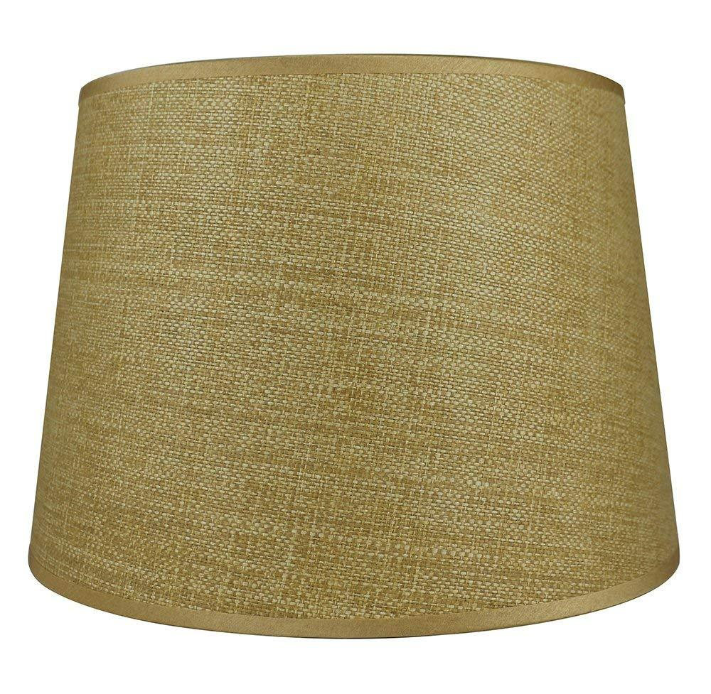 Urbanest French Drum Lampshade, Woven Grass, 10-inch by 12-inch by 8.5-inch, Spider Washer Fitter