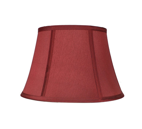 Softback Bell Lampshade, Faux Silk, 14-inch, Burgundy, Spider
