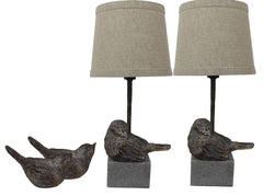 Urbanest Set of 2 Bird Mini Accent Lamps with Shades