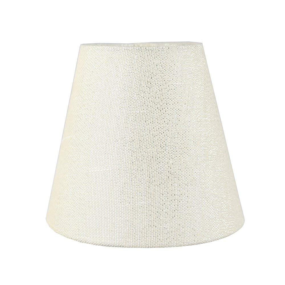 Urbanest Hardback Metallic Fabric Chandelier Lamp Shade, 3-inch by 5-inch by 4 1/2-inch, Clip-on