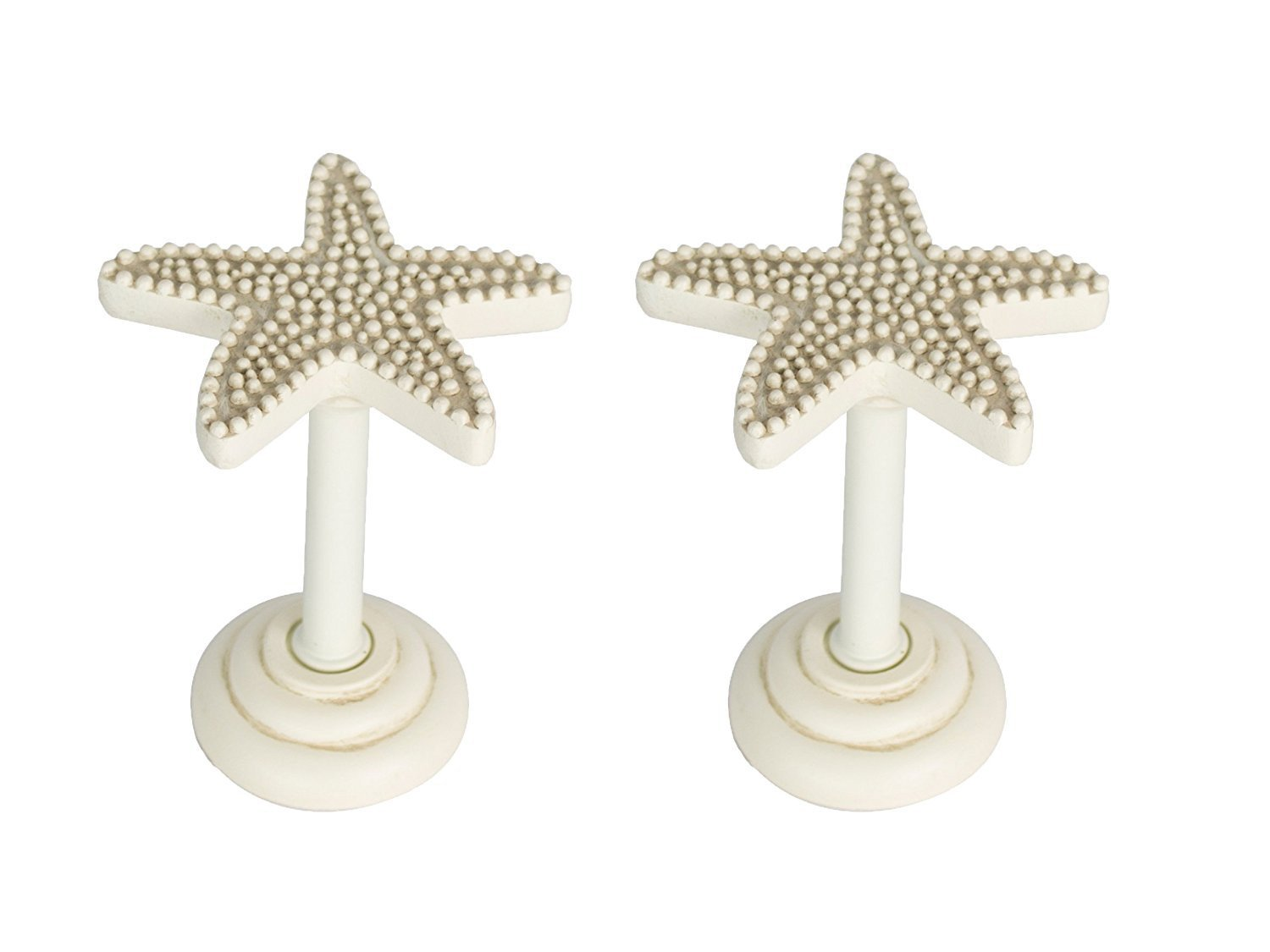 Starfish Drapery Holdback Medallion - 3 Finishes