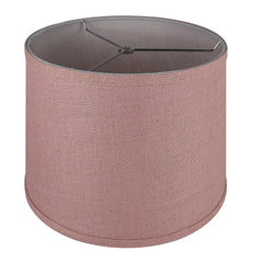 Burlap French Drum Lampshade - 10 Colors