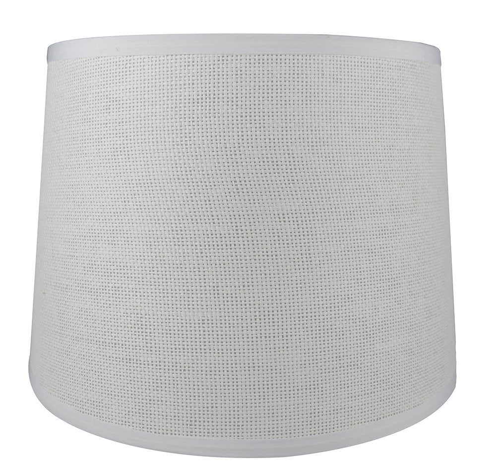 French Drum Lampshade, Woven Paper, 10-inch by 12-inch by 8.5-inch, Spider Washer Fitter