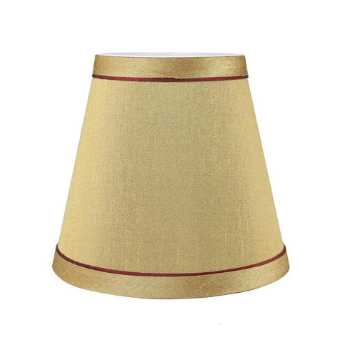 Urbanest Hardback Faux Silk Chandelier Lamp Shade with Trim, 3-inch by 5-inch by 4 1/2-inch, Clip-on