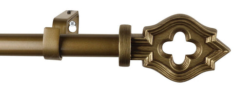 1-inch Diameter Leto Drapery Curtain Rod - 2 Finishes