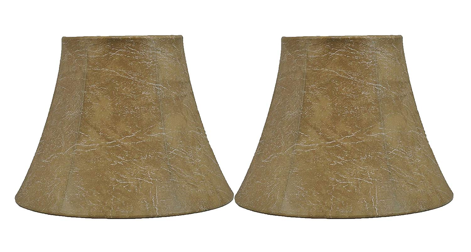 Urbanest Set Of 2 Softback Bell Lamp Shade Faux Leather 5 Inch By 9 Urbanest
