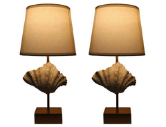 Set of 2 Shell Table Lamps