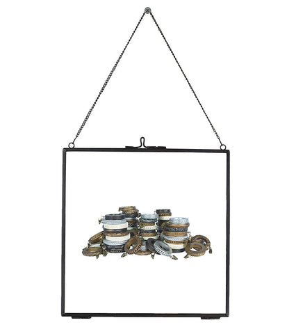 Brixton Brass and Glass Hanging Picture Frame