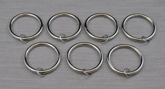 3-Inch Metal Curtain Eyelet Rings - 7 Finishes