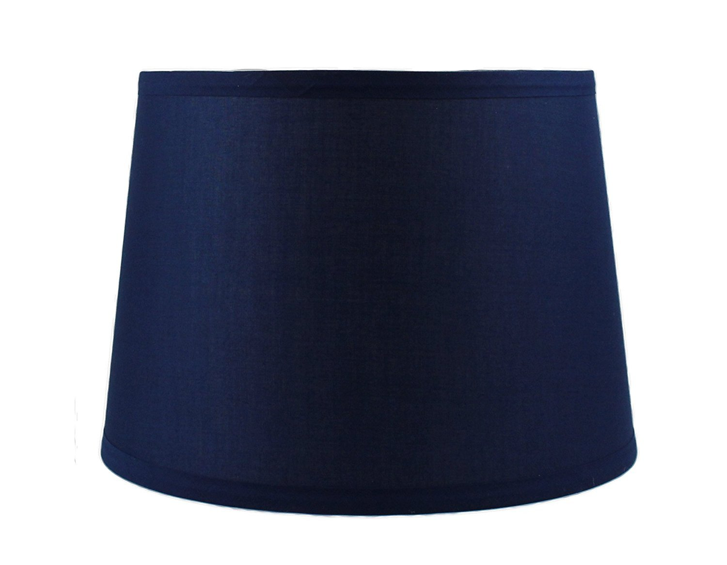 French Drum Lampshade, Cotton, 10-inch by 12-inch by 8 1/2-inch, Spider Washer Fitter