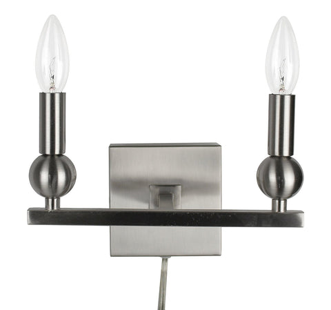 Zio Wall Sconce with Double Bulb (Cord)
