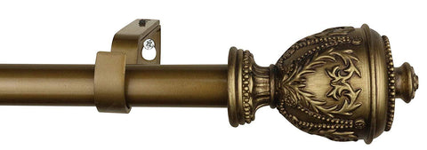 1-inch Diameter Grecian Urn Adjustable Single Drapery Curtain Rod