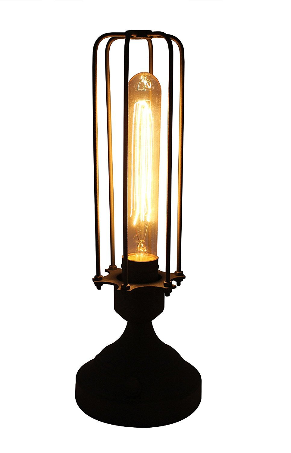 Burnham Industrial Cage Table Lamp