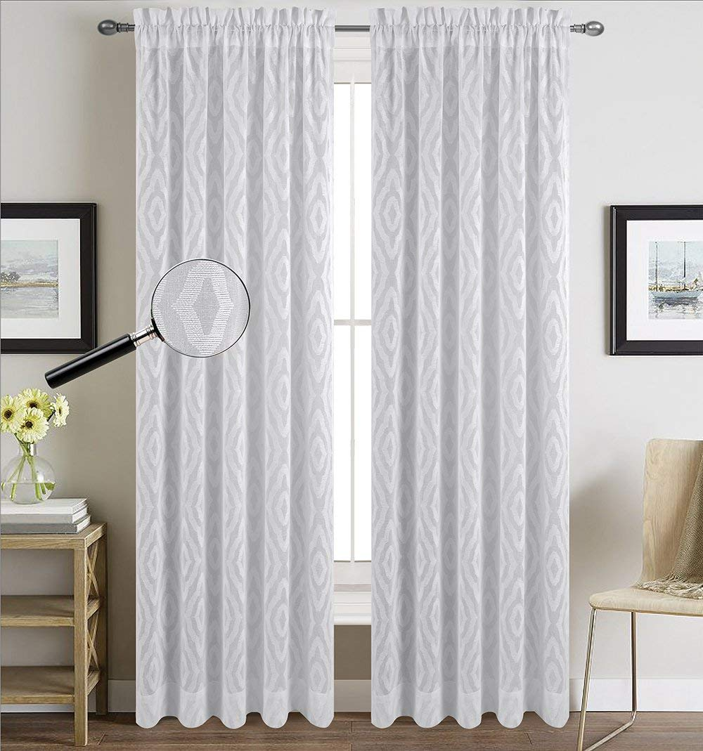 Urbanest Set of 2 Portland Sheer Curtain Drapery Panels