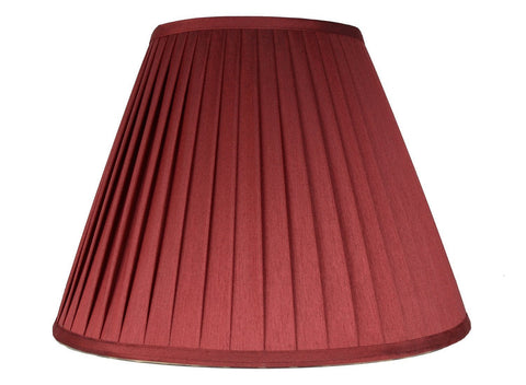 "Softback Empire Side Pleat Lampshade, Faux Silk, 6x14x9"", Burgundy, Spider"