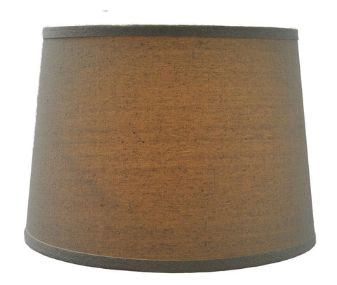 Natural Linen Drum Lampshade, 12-inch By 14-inch By 10-inch, Spider