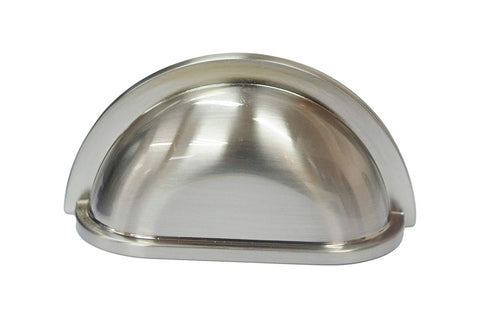 Zinc Alloy Cabinet Hardware Bin Cup Drawer Handle Pull - 3-inch Hole Centers