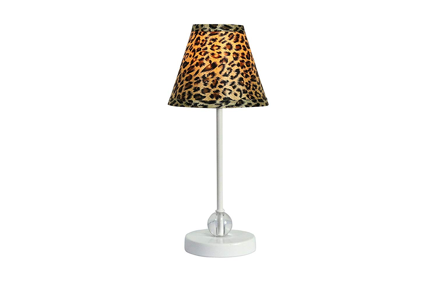Chelsea Mini Accent Lamp with Leopard Lamp Shade