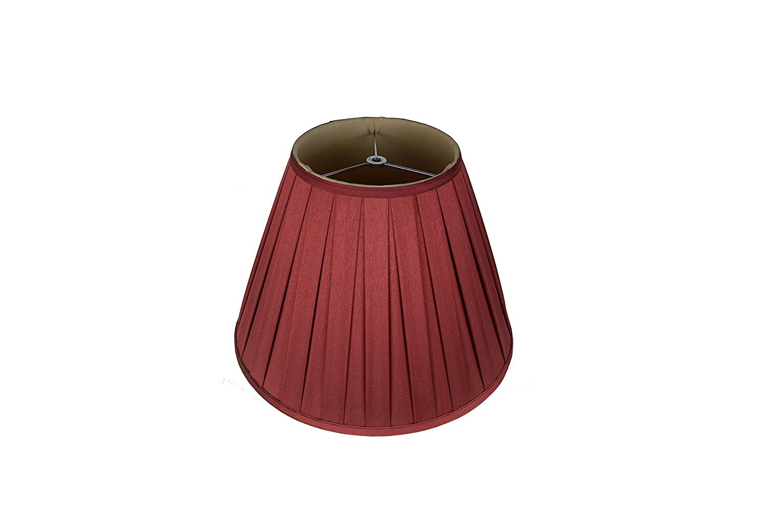 "Softback Empire Box Pleat Lampshade, Faux Silk, 6x14x9"", Spider"