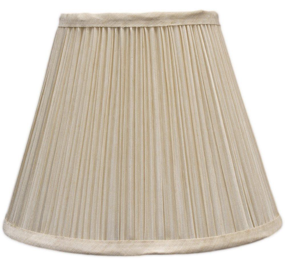 Mushroom Pleated Softback Lamp Shade, Faux Silk, 5-inch by 9-inch