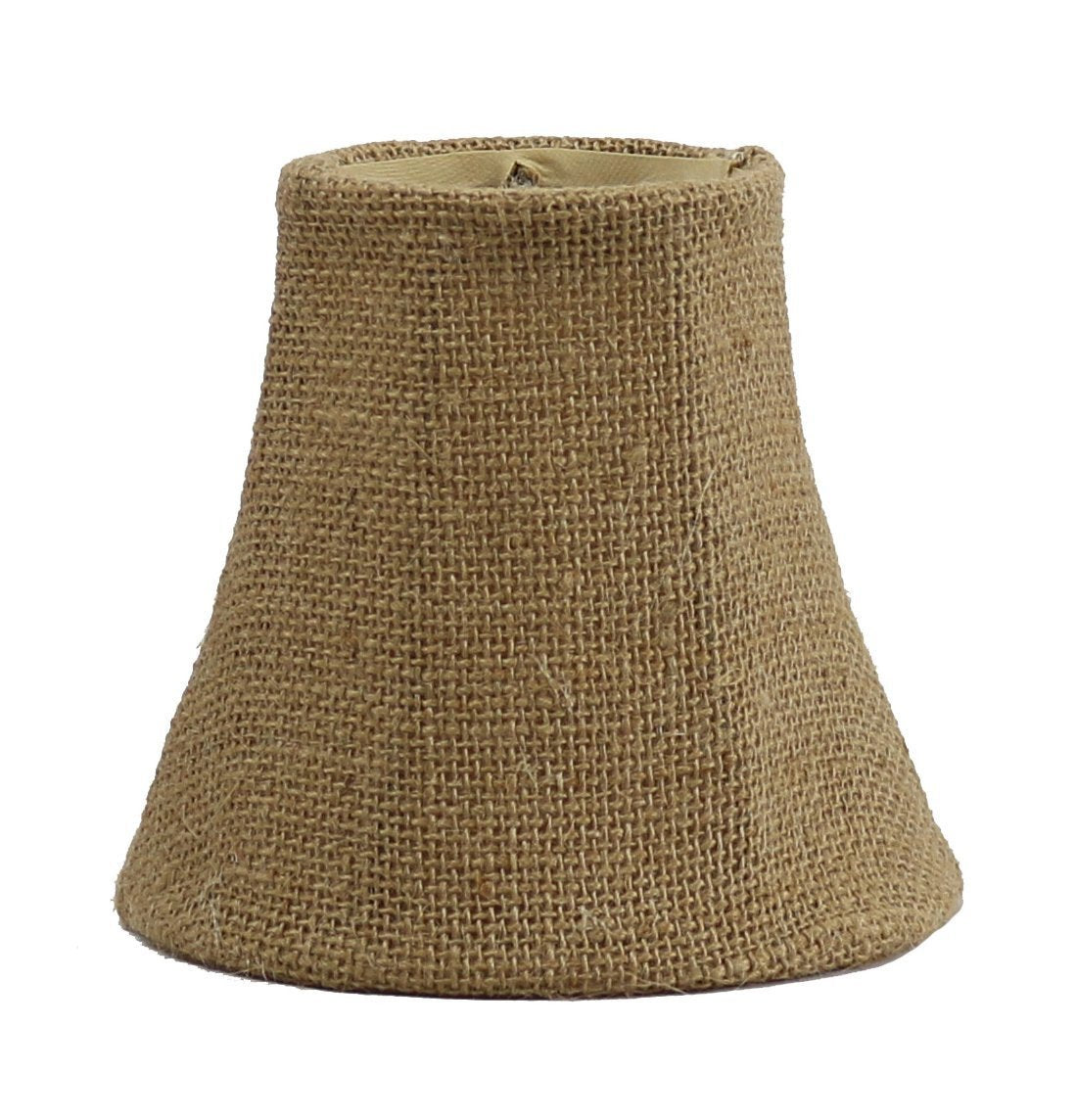 3-inch by 5-inch by 4.5-inch Burlap Bell Clip-on Chandelier Shade