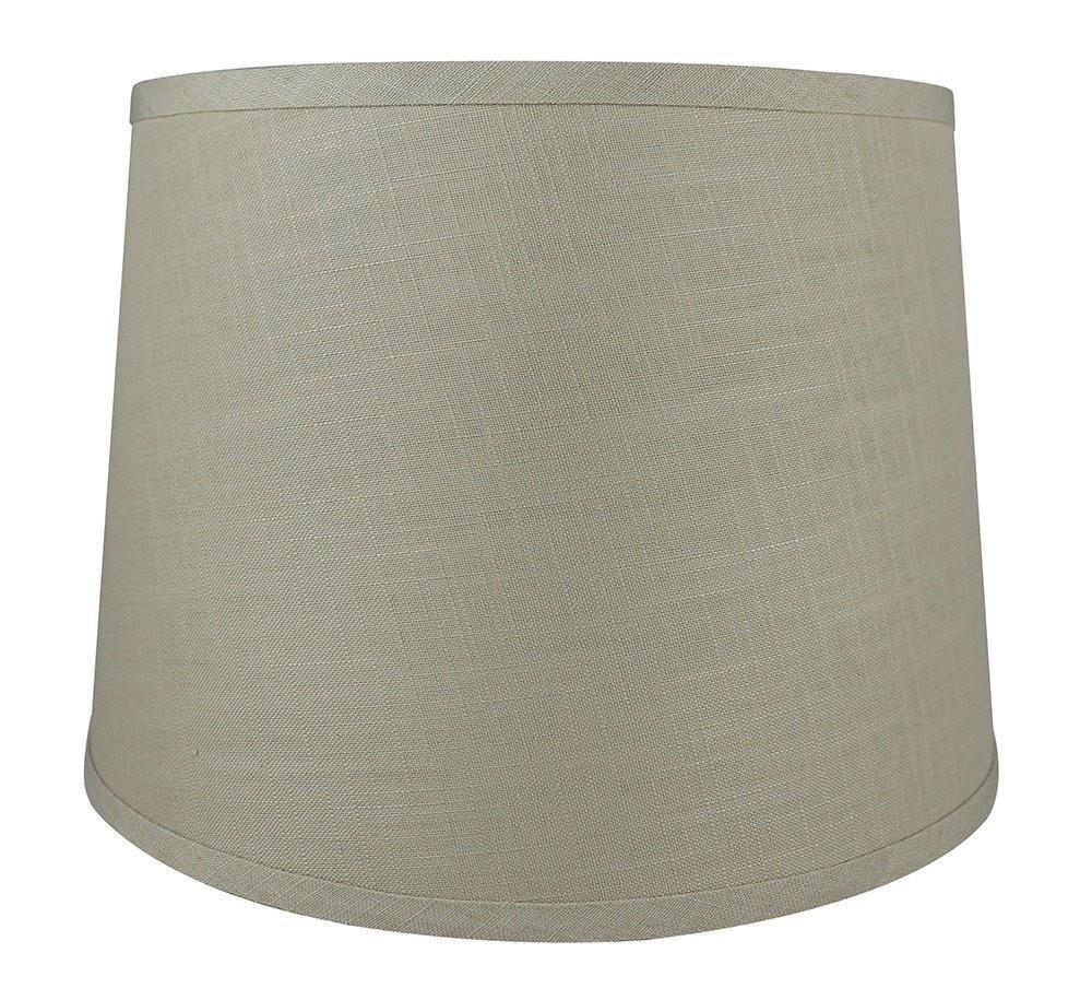 French Linen Drum 14-inch Lamp Shade - 7 Colors