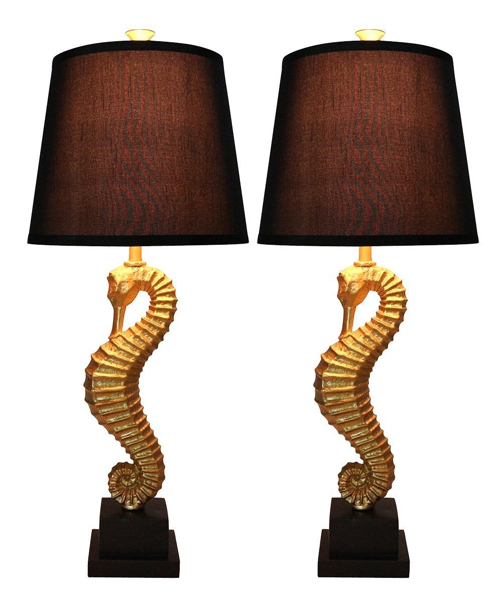 Set of 2 Seahorse Table Lamps