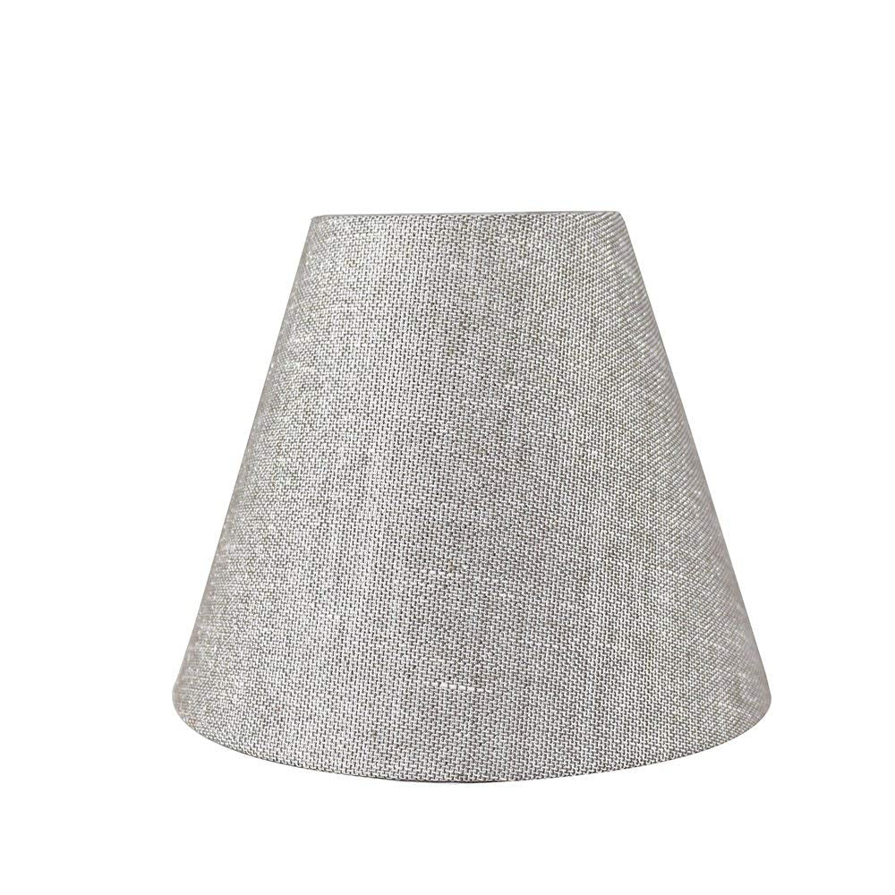 Urbanest Hardback Metallic Fabric Chandelier Lamp Shade, 3-inch by 6-inch by 5-inch, Clip-on
