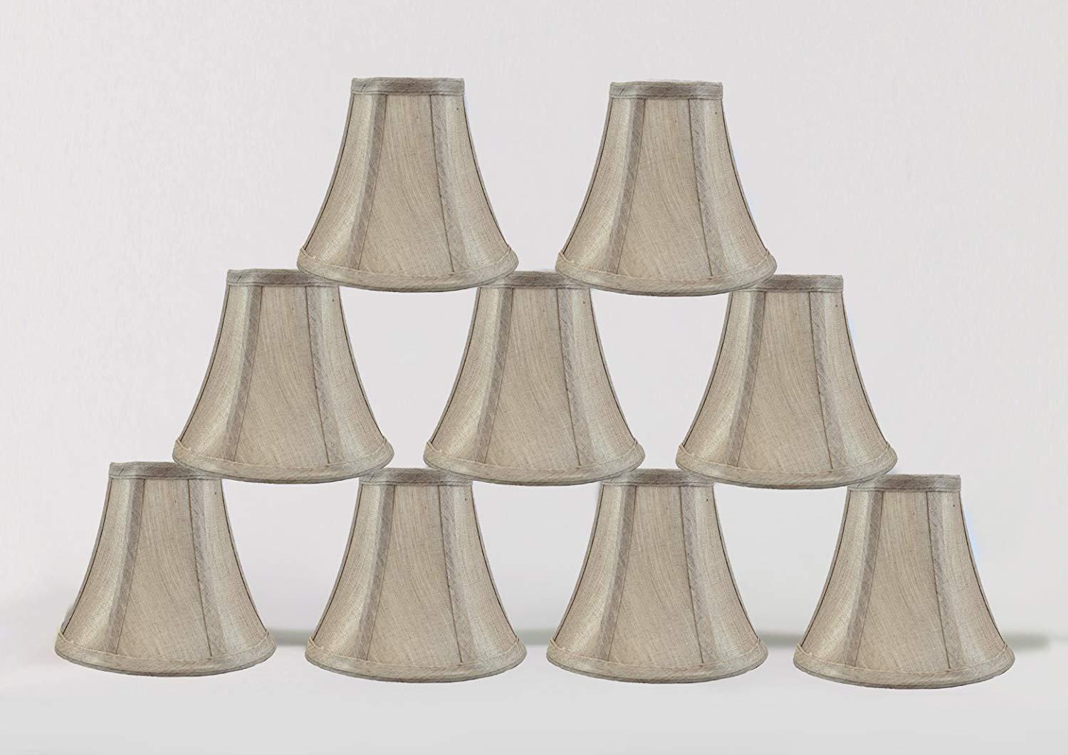 Urbanest 1100848d 6-inch Chandelier Lamp Shade, Champagne Set of 9