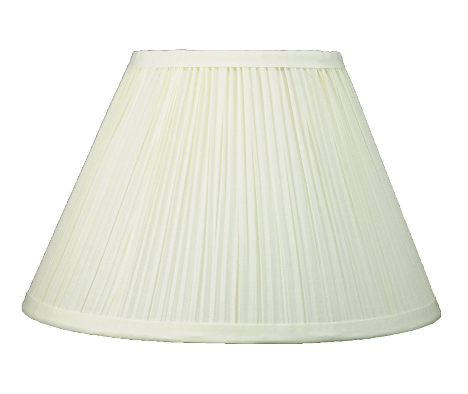 Mushroom Pleated Softback Lamp Shade, Faux Silk, 14-inch, Spider-fitter