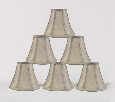 "Urbanest 1100848c 3x6x5"" Chandelier Lamp Shade, Champagne, Set of 6"