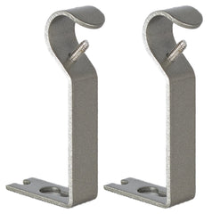 1/2-inch and 5/8-inch Non-Adjustable Curtain Drapery Rod Brackets - 7 Finishes