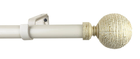 1-inch Diameter Favo Adjustable Single Drapery Curtain Rod