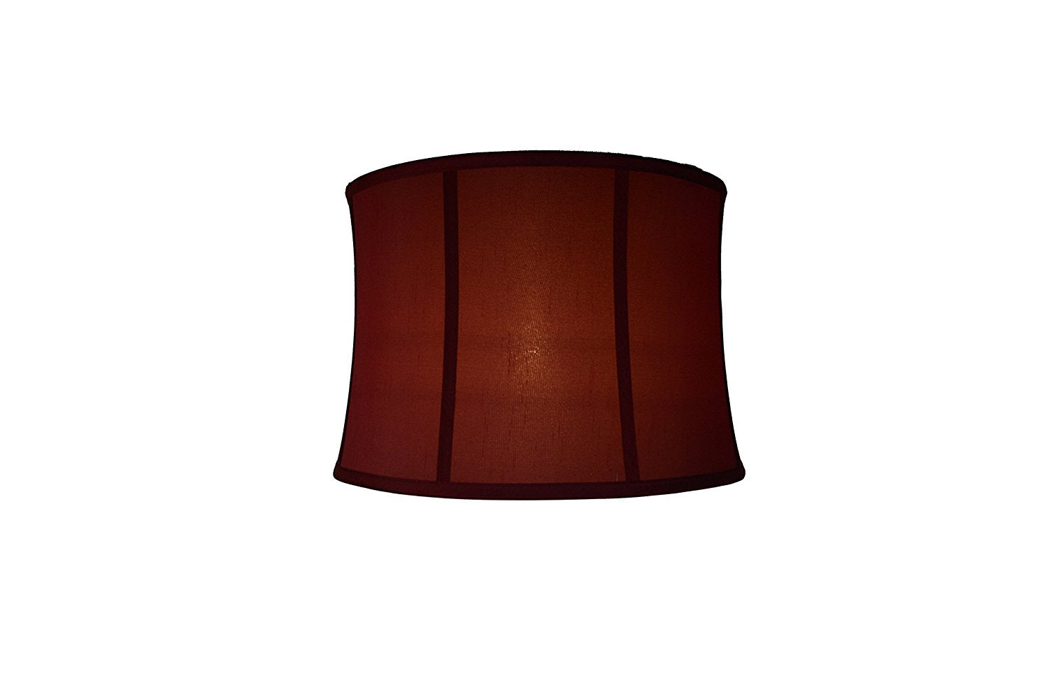 Softback Drum Lampshade,Faux Silk, 12-inch, Burgundy, Spider