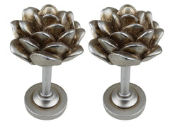 Pinecone Drapery Medallion Holdback - 5 Finishes