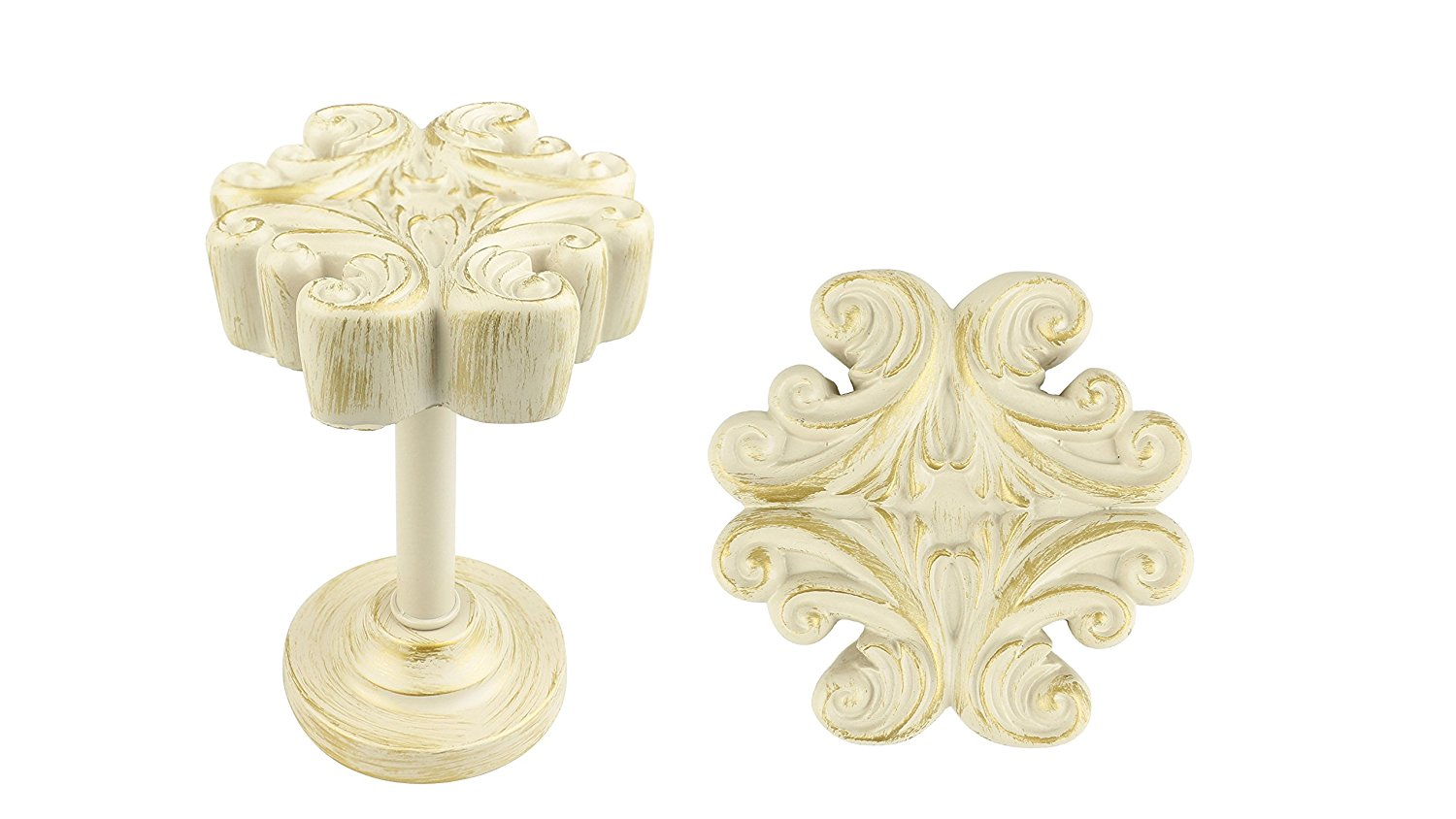 Acanthus Medallion Drapery Holdback - 5 Finishes