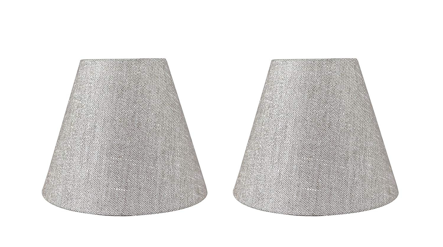 Urbanest hardback metallic fabric chandelier lamp shade 3 inch by 6 urbanest hardback metallic fabric chandelier lamp shade 3 inch by 6 inch by aloadofball