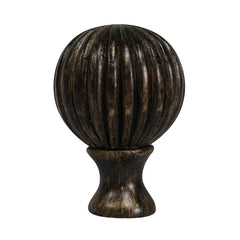 Urbanest Fluted Ball Lamp Finial, 2 1/8-inch Tall
