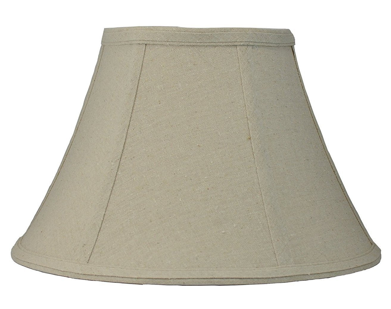 Softback Bell Lampshade,Natural Linen, 16-inch Bottom Diameter, 9-inch Height, Spider