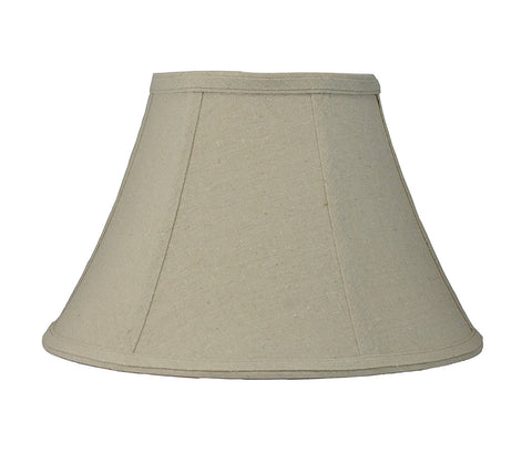 Softback Bell Lampshade,Natural Linen, 14-inch Bottom Diameter, 8 1/4-inch Height, Spider
