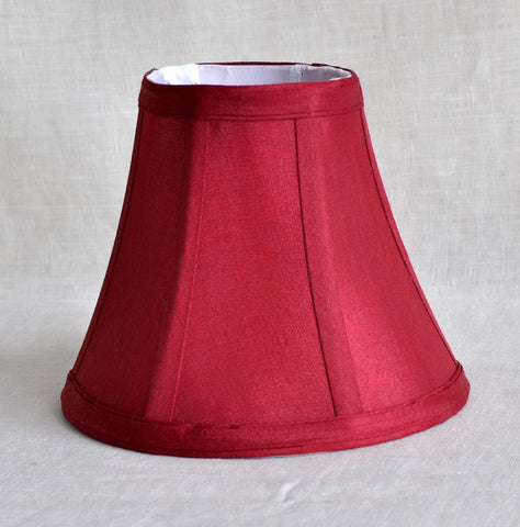 Urbanest Chandelier Lamp Shades 6-inch, Bell, Clip On, Burgundy