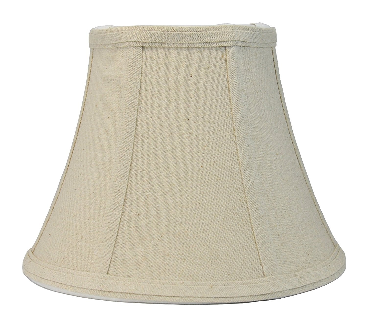 "Softback Bell Lampshade, Natural Linen, 5x9x7"", Spider Fitter"