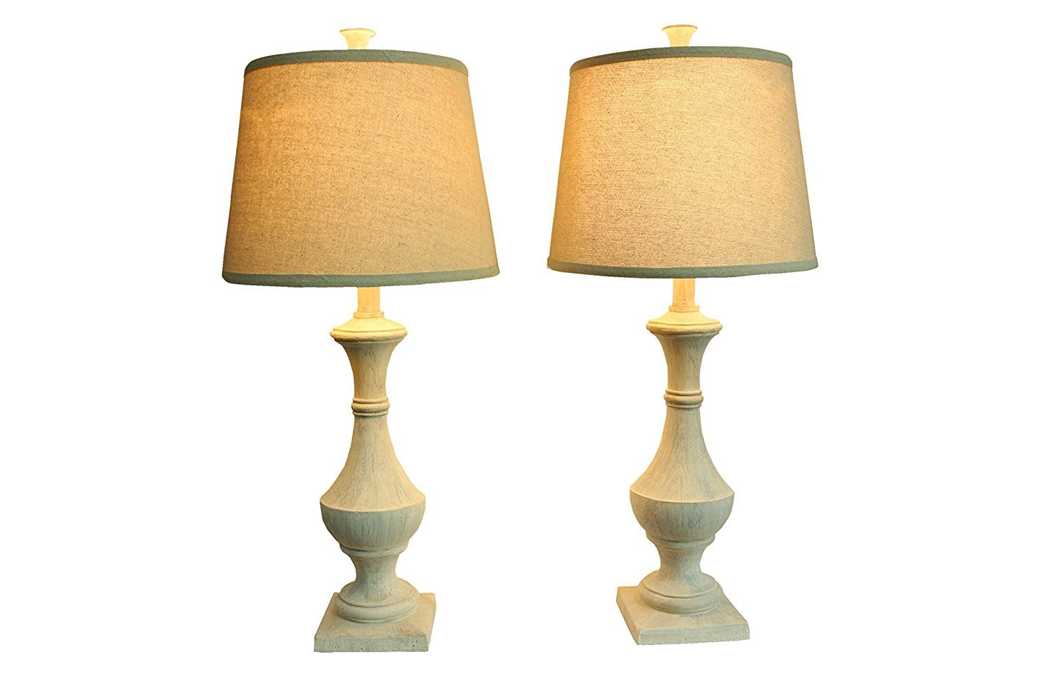 Set of 2 Marion Table Lamps, Weathered White