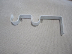 "Double Curtain Rod Bracket for 3/4"" or 5/8"""
