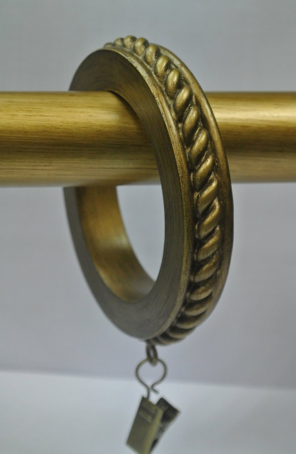 Set of 4 Large Rope Designer Curtain Rings