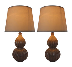 Aiden Table Lamps with Shades - 3 Finishes