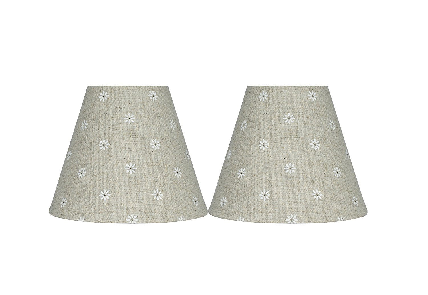 natural lamp shade ceiling natural linen with daisies 6inch chandelier lamp shade urbanest