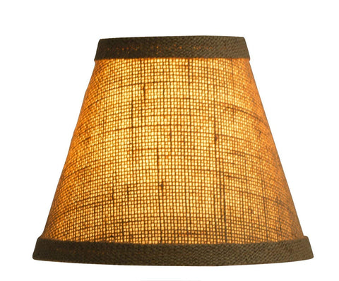 Urbanest 1100328d Chandelier Lamp Shade 6-inch, Hardback, Clip On, Burlap(set of 9)