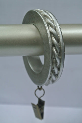 Set of 7 Rope Designer Curtain Rings